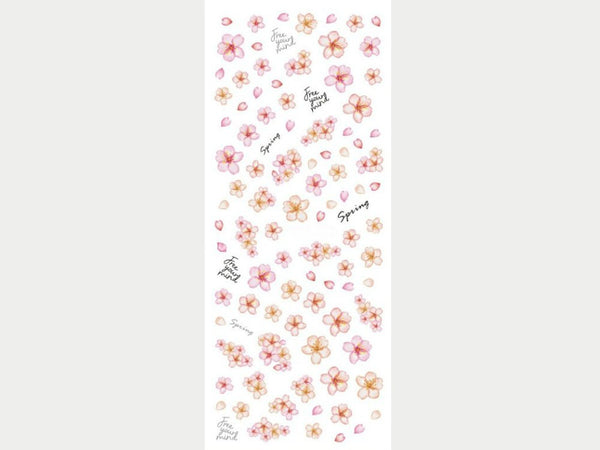 cherry blossom nail decals, cherry flowers nail stickers