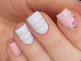 tribal nail art, white tribal nail design, tribal nails