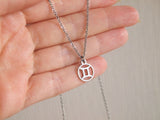 gemini astro sign necklace, gemini jewelry
