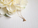 dainty libra charm necklace, celestial jewelry