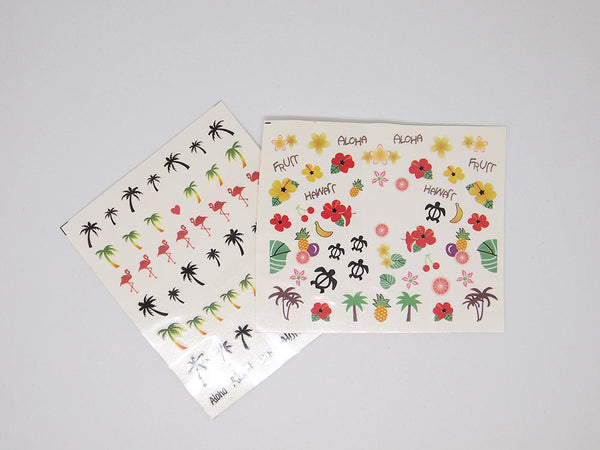 hawaii nail decals, hawaii nail stickers
