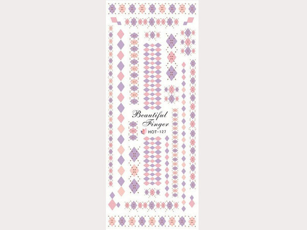 argyle sweater nail decals