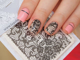 black lace nail stickers, lace nail art