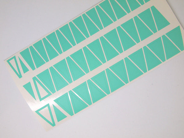 single triangle nail art stencils, triangle nail art vinyls