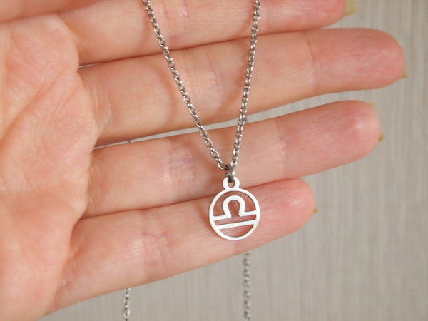 libra zodiac necklace, gift for libra