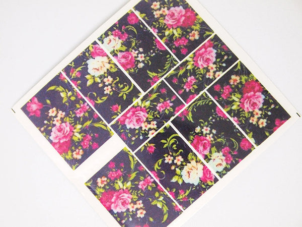 floral nail decals, floral nail wraps, floral nails
