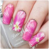 floral nail wraps, full nail decals