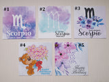 scorpio birthday cards