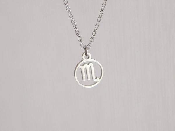 scorpio charm necklace, gift for scorpio