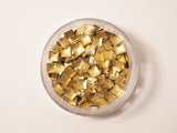 gold square scratched nail art studs, size 3x3mm
