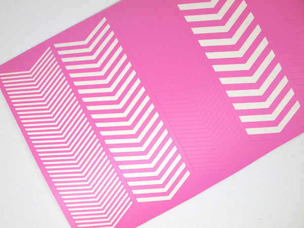 wide angle single chevron variety sheet, chevron nail vinyls