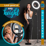 "GearLight Radiance 10"" Ring Light w/ Tripod Stand"