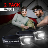 GearLight S500 LED Headlamp [2 Pack]