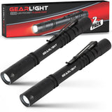 GearLight S100 LED Pocket Flashlight [2 Pack]