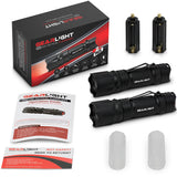 GearLight M10 LED Tactical Flashlight [2 Pack]