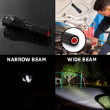 GearLight S1000 LED Tactical Flashlight with Magnet [2 PACK]