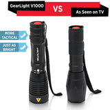 GearLight V1000 LED Tactical Flashlight [2 Pack]