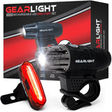 GearLight S300 Rechargeable LED Bike Light Set