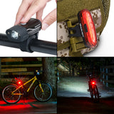 GearLight S400 Rechargeable LED Bike Light Set