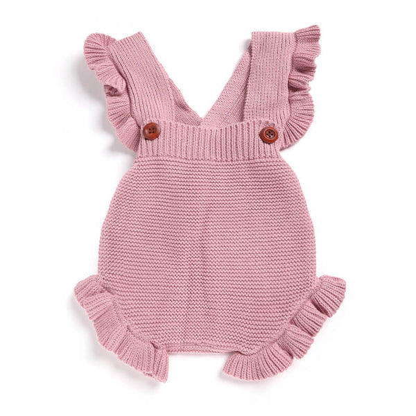 Cute Baby Girls Ruffle Knitted Romper 223