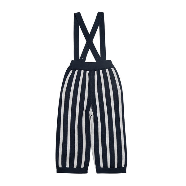Stripe Knitted Overall