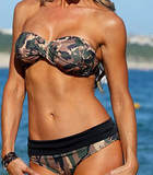 New fashion camouflage green two piece bikini
