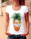New fashion print pineapple short sleeve T-shirt