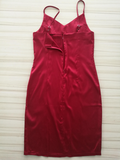 New sexy Fashion Straps silk pure color show thin red dress