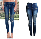 The new fashion women's shoes Slim elasticity was thin waist jeans