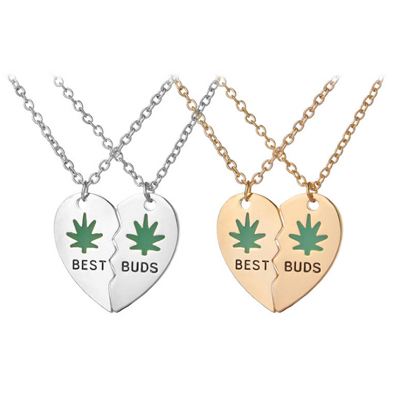 2017 new good friend BEST BUDS two splicing love necklace