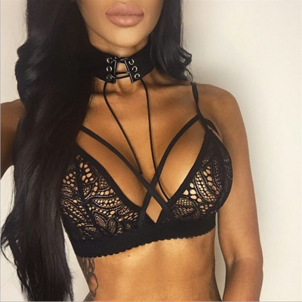 New fashion hollow lace underwear top