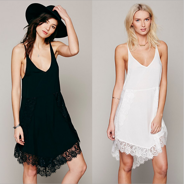 Irregular lace lace harness dress