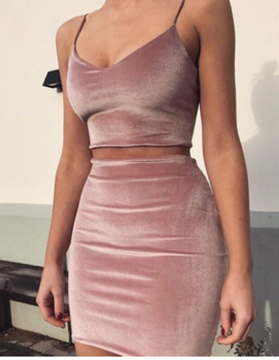 Sexy harness vest skirt suit