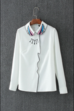 All-match White Chiffon Blouse