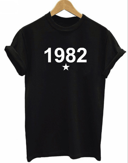 1982 digital print short sleeve T-shirt