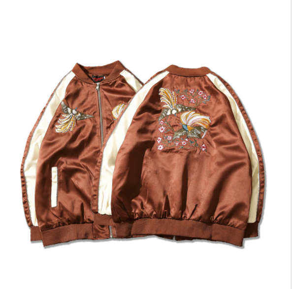 Yokosuka embroidery loose baseball jacket jacket male bf wind long sleeve female short jacket