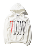 Alphabet with velvet hoodie sweater