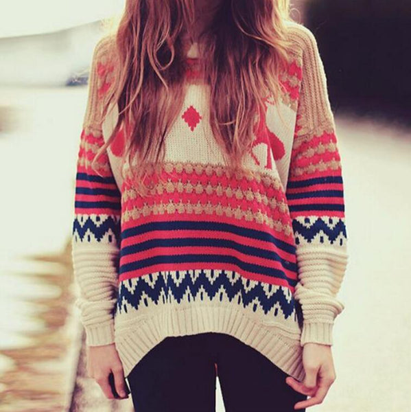 Fashion Women Sweater Knit Long Sleeve Top