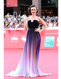 NEW FASHION HOT CUTE GRADIENT PURPLE LONG DRESS