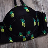 Fashion new sexy Pineapple Women Swimwear Bikini Set Swimwear Print two piece bikini