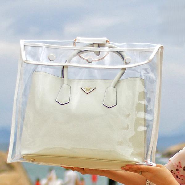 bolsa transparente fashion moda
