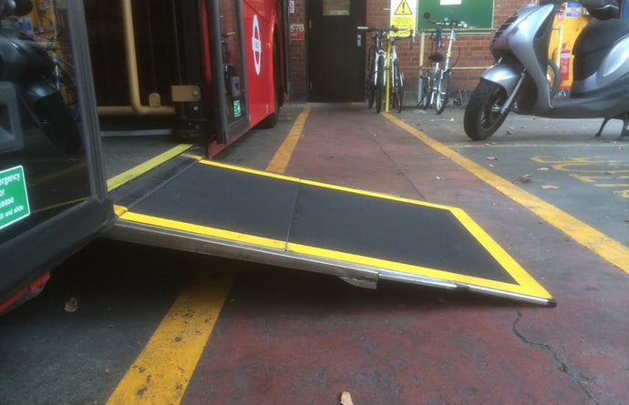 Fully Electric Powered Two Stage Access Ramp