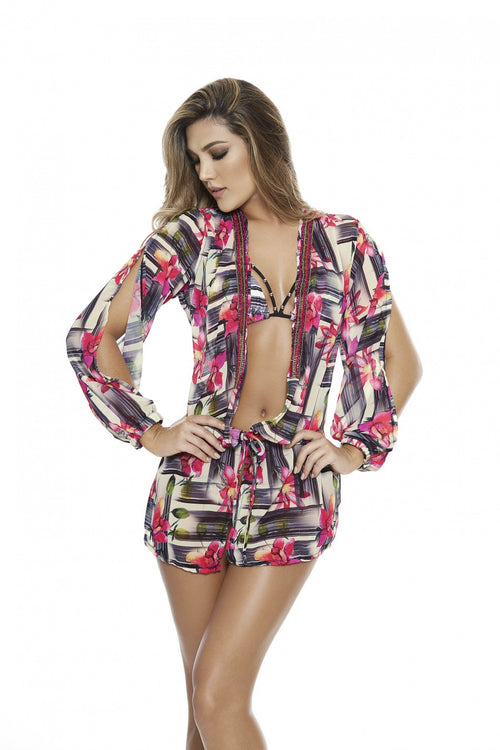 POLYESTER COVER UP DRESS