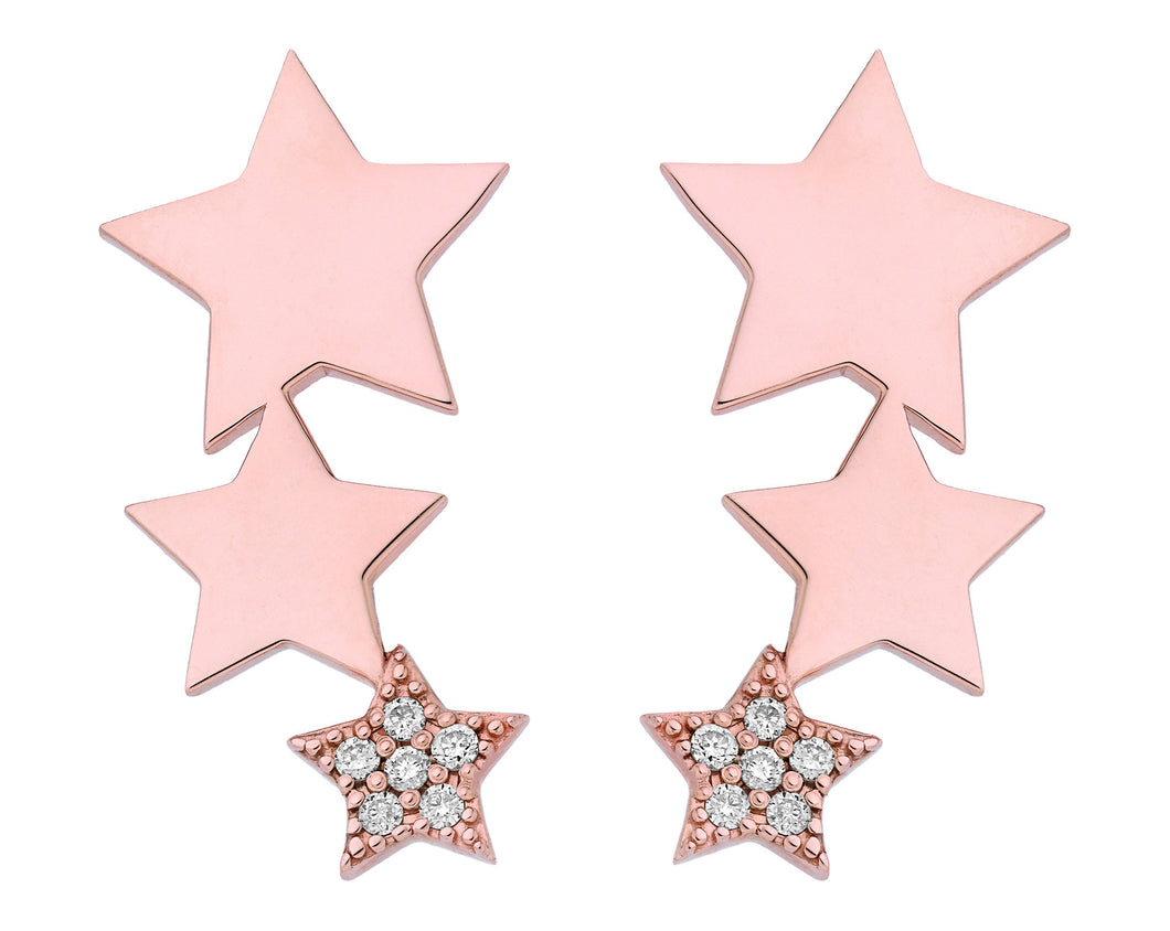 DIAMOND STAR EARRINGS ♡ Alizée