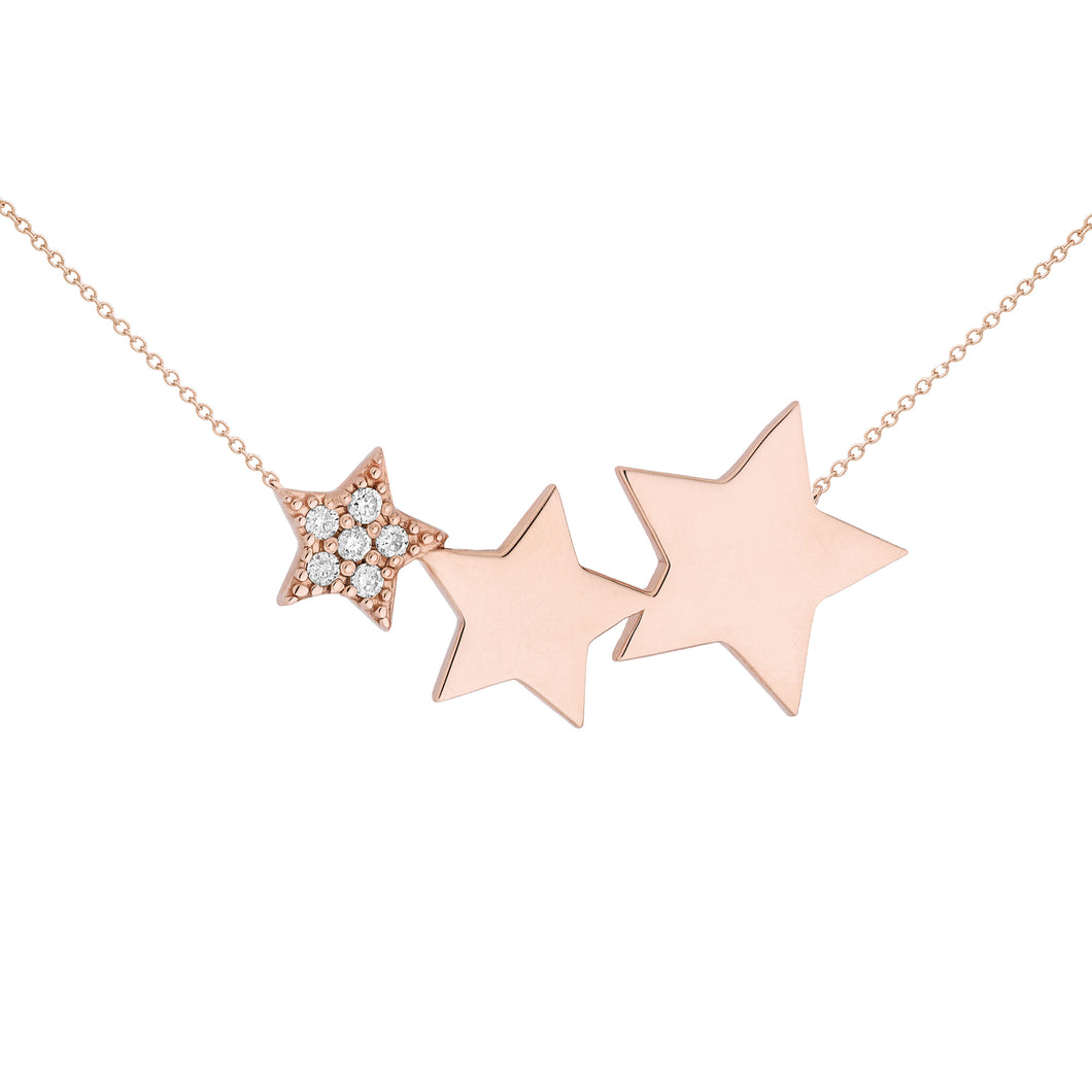 DIAMOND STAR NECKLACE ♡ Alizée