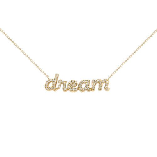DIAMOND & GOLD DREAM NECKLACE GOLD COLOR♡Julie