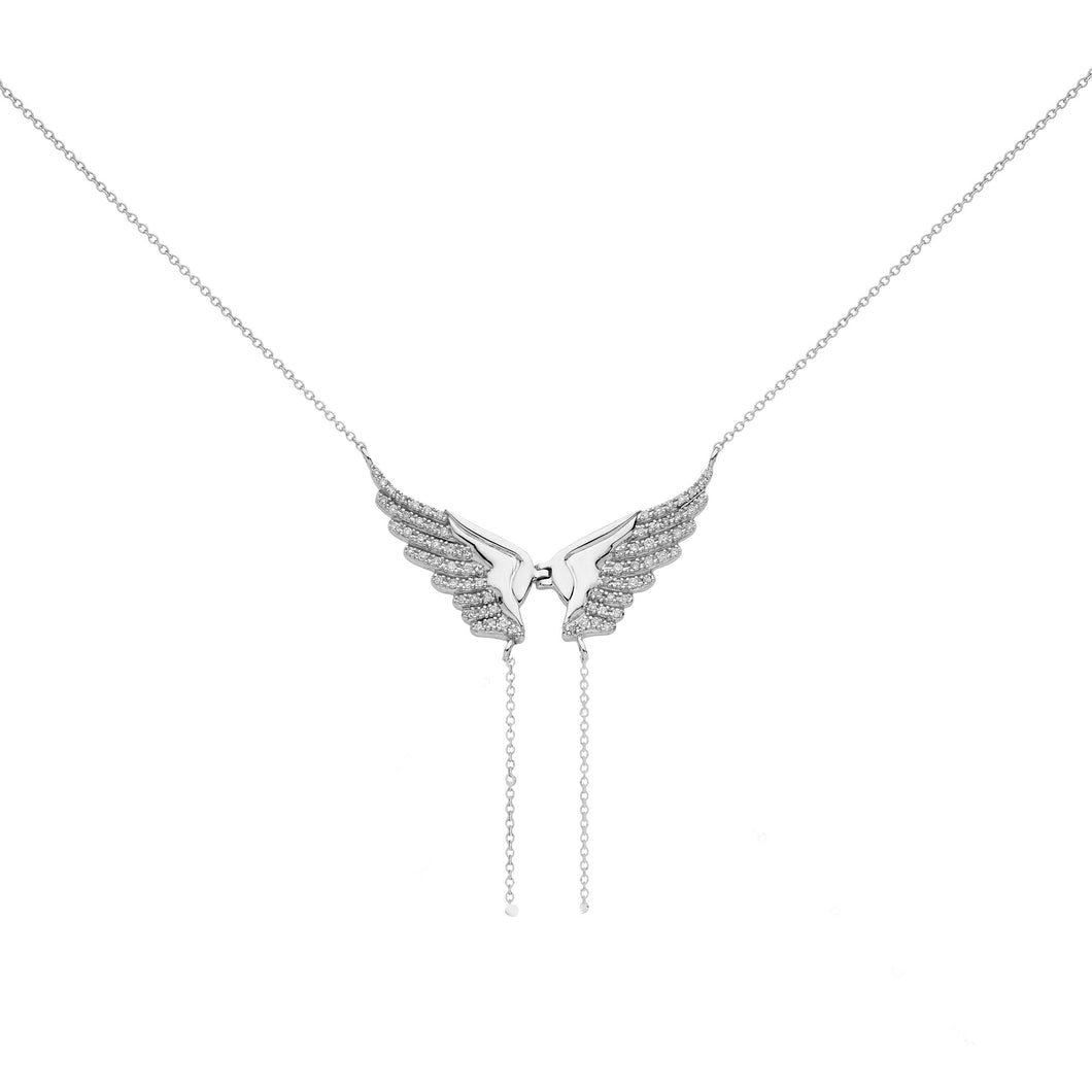 DIAMOND LACE ANGEL NECKLACE