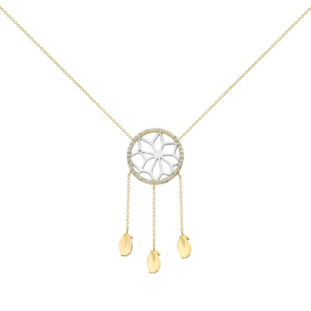 steel dreamcatcher catcher necklace co gold product arva dream in stainless