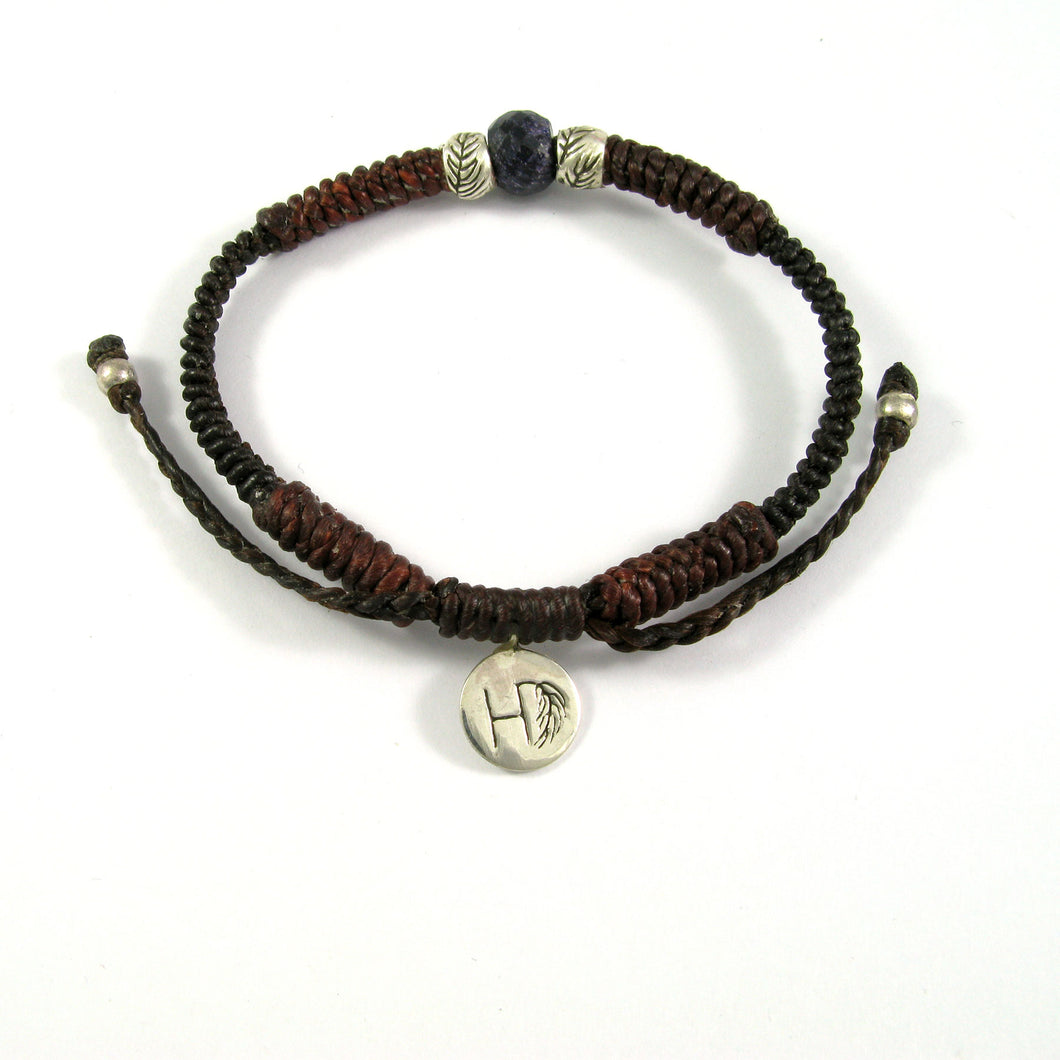 BROWN ROPE & SILVER BRACELET ♡JOE
