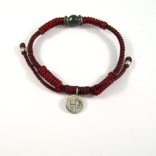 RED ROPE & SILVER BRACELET ♡TONY